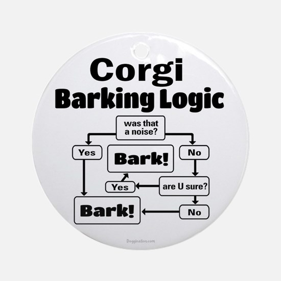 Corgi logic Ornament (Round)