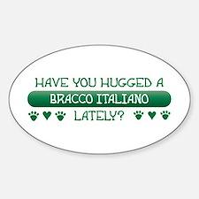 Hugged Bracco Oval Decal