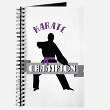 Karate Champion Decal Journal