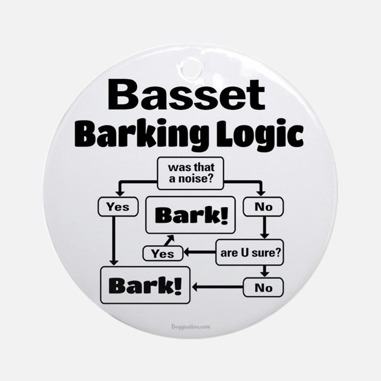 Basset logic Ornament (Round)