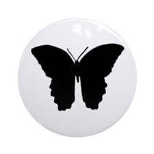 Butterfly Symbol Ornament (Round)