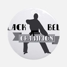 Karate Champion Decal Ornament (Round)