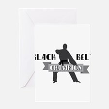 Karate Champion Decal Greeting Cards