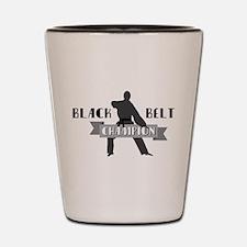 Karate Champion Decal Shot Glass