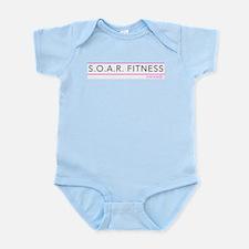 S.O.A.R. Fitness : Coronado Pink & Grey Body Suit