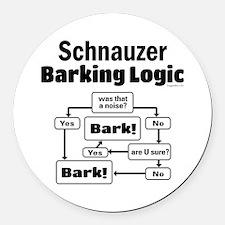 Schnauzer logic Round Car Magnet
