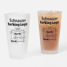 Schnauzer logic Drinking Glass
