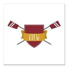 "Crew Shield Square Car Magnet 3"" x 3"""
