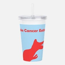 Make Cancer Extinct Acrylic Double-Wall Tumbler