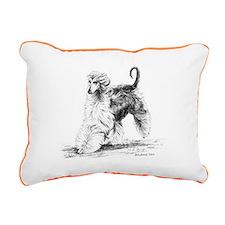 Afghan Hound Rectangular Canvas Pillow