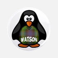 """Watson Tartan Penguin 3.5"""" Button"""