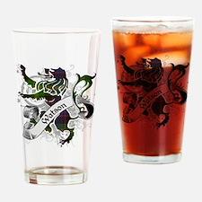 Watson Tartan Lion Drinking Glass