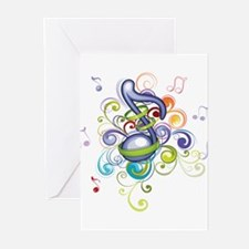 Music in the air Greeting Cards