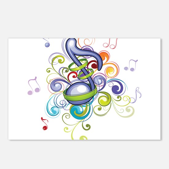 Music in the air Postcards (Package of 8)
