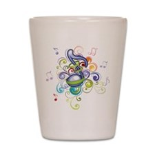 Music in the air Shot Glass