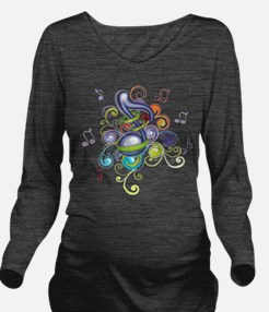 Music in the air Long Sleeve Maternity T-Shirt