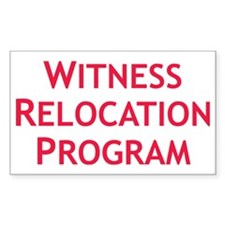 Witness Relocation Program Red Decal