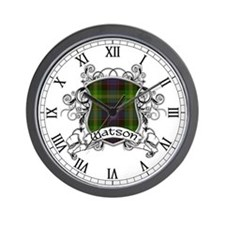 Watson Tartan Shield Wall Clock