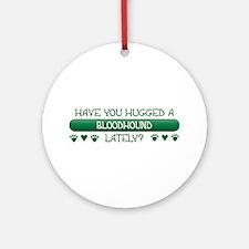Hugged Bloodhound Ornament (Round)