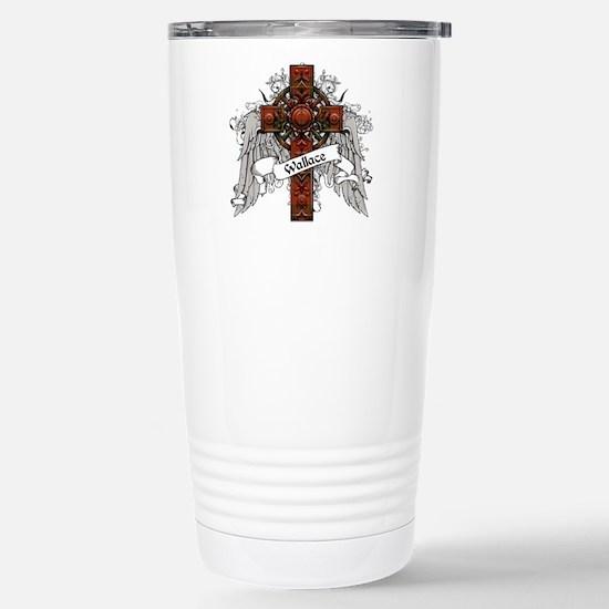 Wallace Tartan Cross Stainless Steel Travel Mug