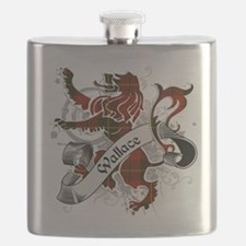 Wallace Tartan Lion Flask