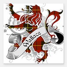 "Wallace Tartan Lion Square Car Magnet 3"" x 3"""