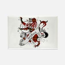 Wallace Tartan Lion Rectangle Magnet