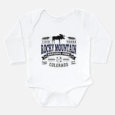 Rocky Mountain Vintage Long Sleeve Infant Bodysuit
