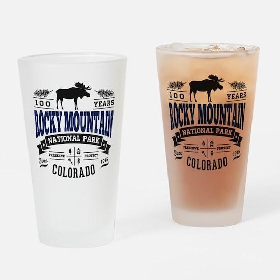 Rocky Mountain Vintage Drinking Glass