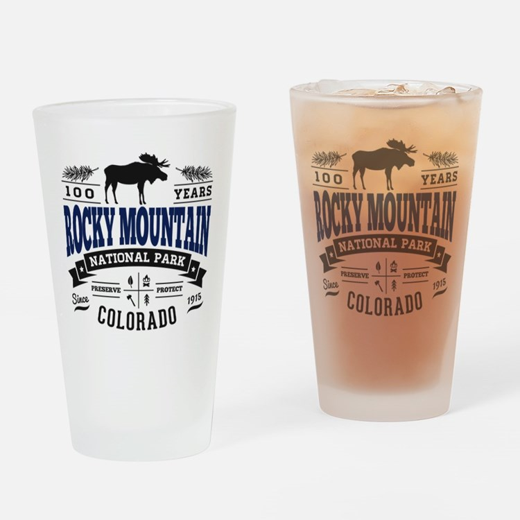 Rocky Mountain Vintage Drinking Glass