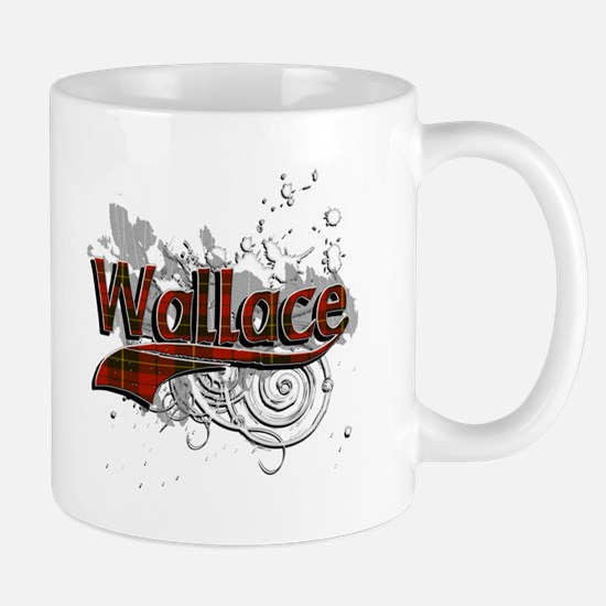 Wallace Tartan Grunge Mug