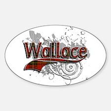 Wallace Tartan Grunge Decal