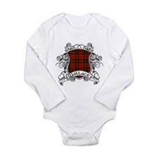 Wallace Tartan Shield Long Sleeve Infant Bodysuit