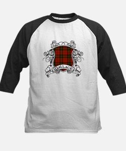 Wallace Tartan Shield Kids Baseball Jersey