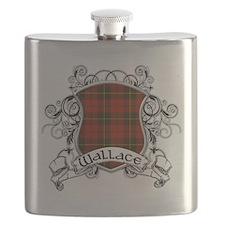 Wallace Tartan Shield Flask