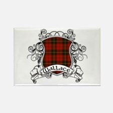 Wallace Tartan Shield Rectangle Magnet