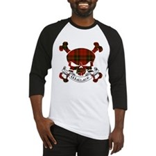 Wallace Tartan Skull Baseball Jersey