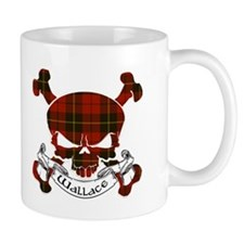 Wallace Tartan Skull Mug