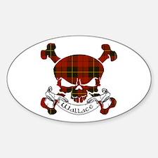 Wallace Tartan Skull Decal