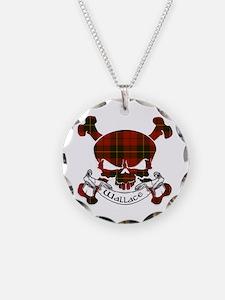Wallace Tartan Skull Necklace
