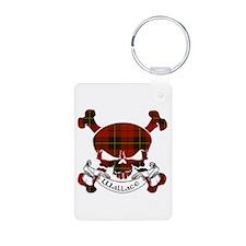 Wallace Tartan Skull Keychains