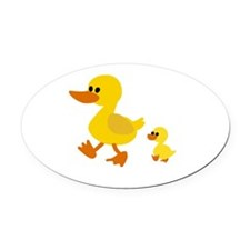 Cute Cute duck Oval Car Magnet