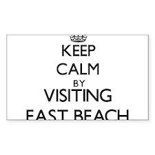 Keep calm by visiting East Beach California Sticke