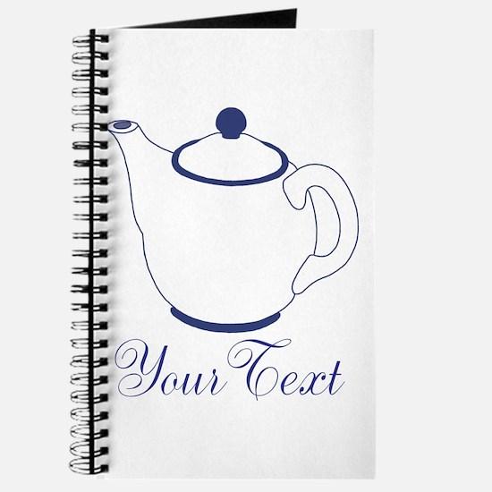 Personalizable Blue Tea Pot Journal