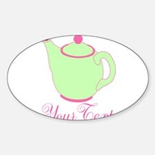 Personalizable Pink and Green Teapot Decal