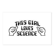 This girl loves science Postcards (Package of 8)