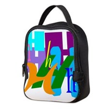 Initial Design (H) Neoprene Lunch Bag