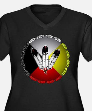 Three Eagle Feathers Plus Size T-Shirt