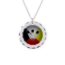 Three Eagle Feathers Necklace
