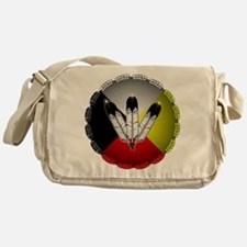Three Eagle Feathers Messenger Bag